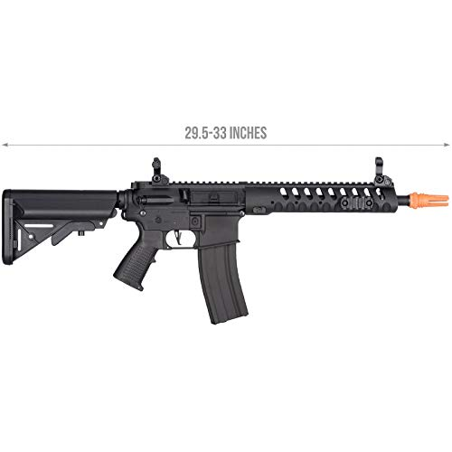 Lancer Tactical  2 Lancer Tactical Classic Army Skirmish Series Delta 10 M4 Airsoft AEG Rifle Black 350 FPS