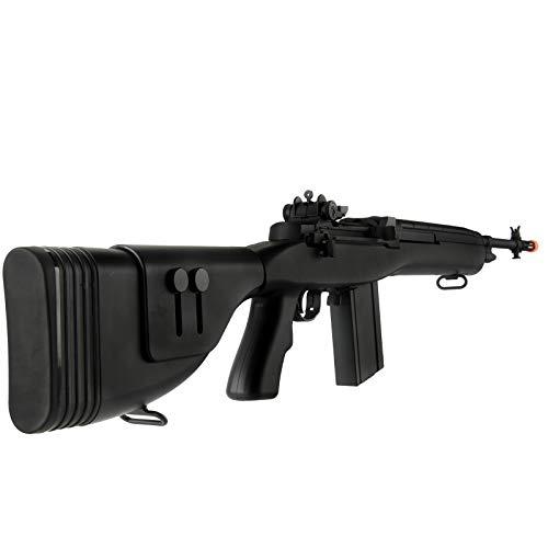 "Lancer Tactical  4 Lancer Tactical LT-732 DMR Stock 45"" M14 SOCOM Airsoft AEG Rifle Black"