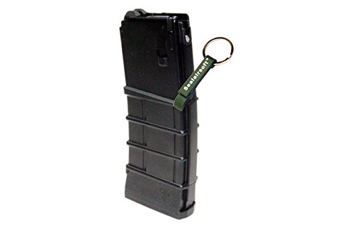 KJW  2 KJ Works 30rds Airsoft Metal 6mm GAS Canadian Magazine For M4 Series GBB BLK -Mobile Ring Included
