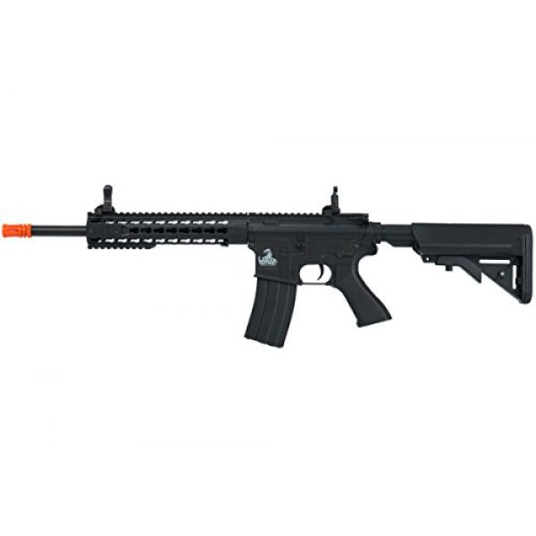 Lancer Tactical Airsoft Rifle 1 Lancer Tactical Full Metal Gear with 10 keymod Rail Interface System Polymer Body lt-19 (Black)(Airsoft Gun)