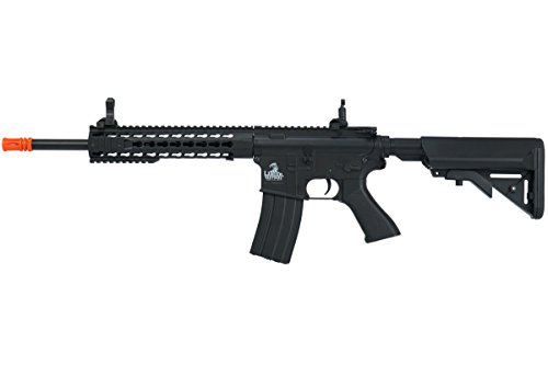 Lancer Tactical  1 Lancer Tactical Full Metal Gear with 10 keymod Rail Interface System Polymer Body lt-19 (Black)(Airsoft Gun)
