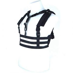Shefure Airsoft Tactical Vest 1 Shefure Military Tactical Vest Airsoft Molle System Low Profile Chest Rig Removable Gun Sling Hunting Airsoft Paintball Gear