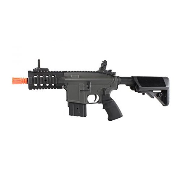 MetalTac Airsoft Rifle 2 MetalTac Electric Airsoft Gun M4 Stubby CQB JG-F6632 with Rail Mounting System, Metal Gearbox Version 2, Full Auto AEG, Upgraded Powerful Spring 380 Fps with .20g BBS