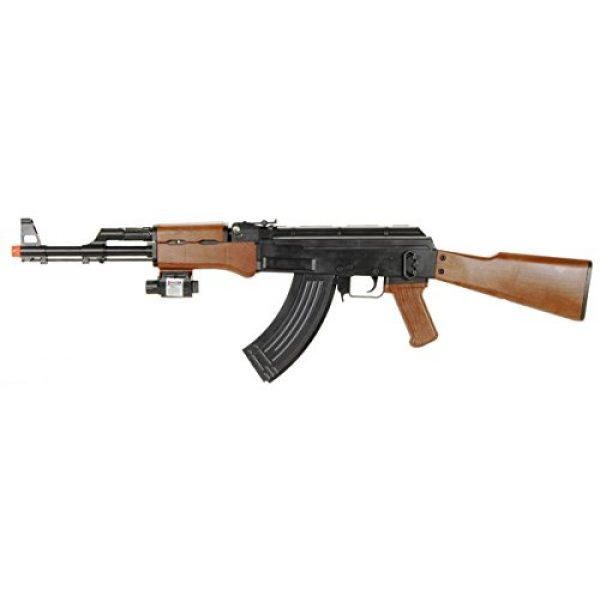 UKARMS Airsoft Rifle 1 UKARMS P1147 AK47 Tactical Airsoft Spring Rifle with Laser & Flashlight
