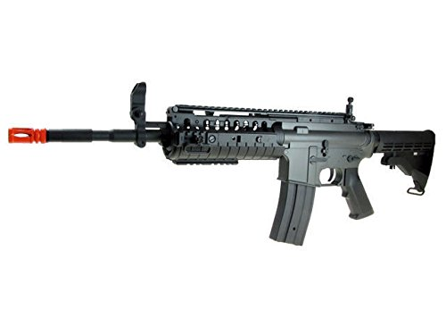 Jing Gong (JG)  3 JG airsoft m 4 s-system full metal gearbox black aeg rifle w/ integrated ris and high performance tight bore barrel - newest enhanced model(Airsoft Gun)