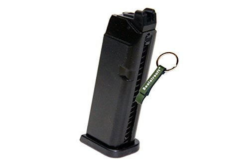 KJW  1 KJ Works 20rds Airsoft 6mm Gas Magazine For G23 G32C G27 KP03 GBB -Mobile Ring Included