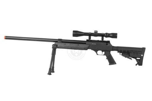 BBTac  3 Wellfire aps sr-2 modular airsoft sniper rifle - scope & bipod - black(Airsoft Gun)