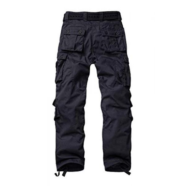 AKARMY Tactical Pant 2 Men's Ripstop Wild Cargo Pants, Relaxed Fit Army Camo Combat Casual Work Trousers with 8 Pockets