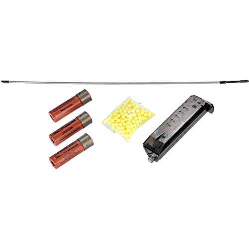 Lancer Tactical  6 Lancer Tactical Long M870 Shell Loading TriShot Airsoft Shotgun Black