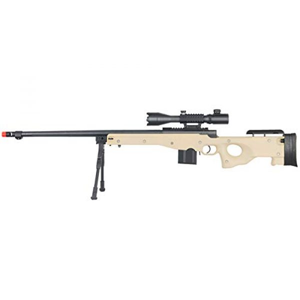 Well Airsoft Rifle 1 Well MB4402 Airsoft Sniper Rifle W/ 4-16X50MM TRI-Rail TED Rifle Scope and Bipod - Tan