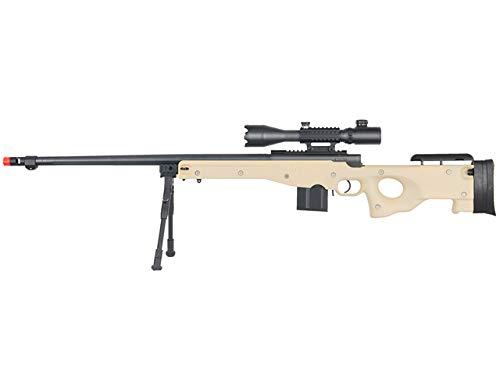 Well  1 Well MB4402 Airsoft Sniper Rifle W/ 4-16X50MM TRI-Rail TED Rifle Scope and Bipod - Tan