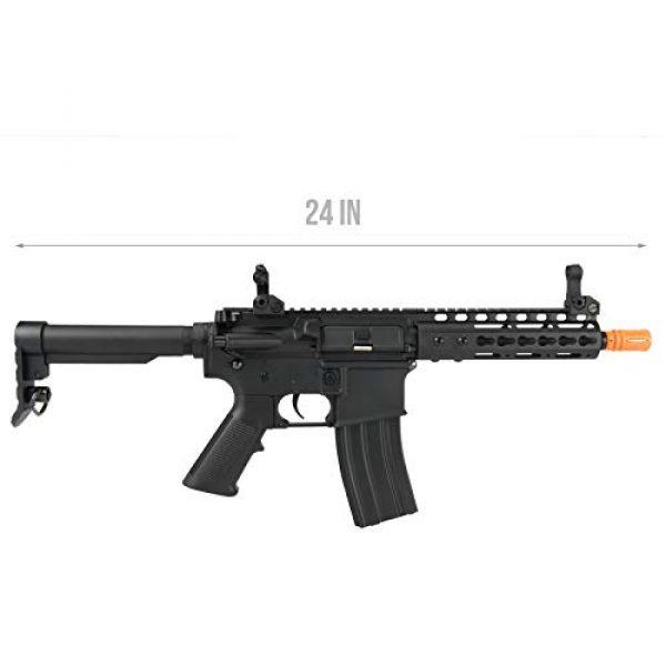 "Lancer Tactical Airsoft Rifle 2 Lancer Tactical Golden Eagle F6637 Elite Series 7"" KeyMod CQB AEG Airsoft Rifle Black"