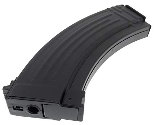 SportPro  6 SportPro Jing Gong 520 Round Flash Metal High Capacity Flash Magazine for AEG AK47 AK74 Airsoft - Black
