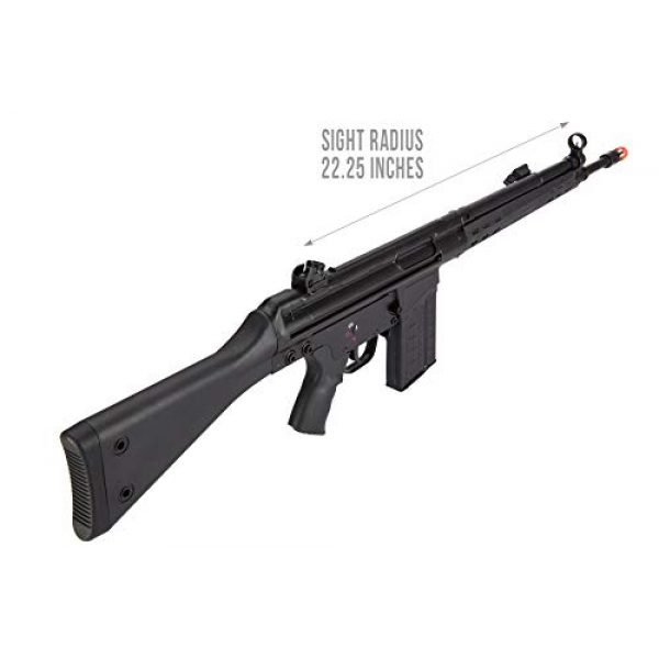 Lancer Tactical Airsoft Rifle 6 Lancer Tactical LCT Stamped Steel Full Stock LC-3A3-S Airsoft AEG Rifle Black