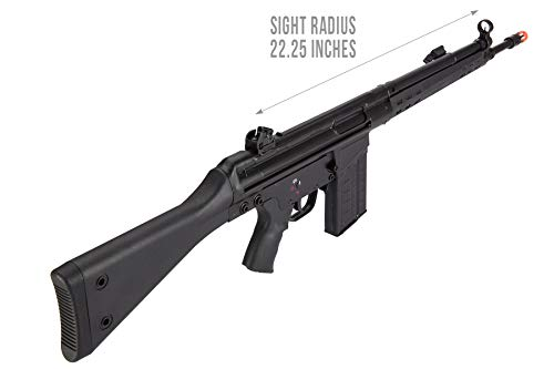 Lancer Tactical  6 Lancer Tactical LCT Stamped Steel Full Stock LC-3A3-S Airsoft AEG Rifle Black