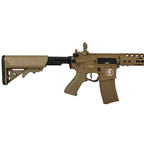 """Lancer Tactical  5 Lancer Tactical 12"""" KeyMod Rail with Picatinny Carbine AEG Airsoft Rifle Tan 395 FPS"""