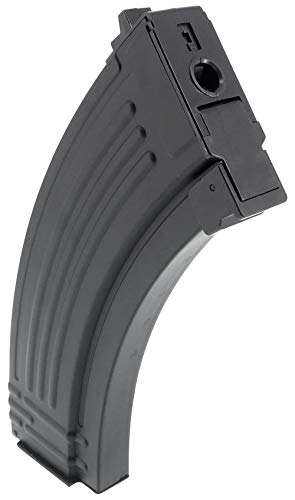 SportPro  2 SportPro Jing Gong 520 Round Flash Metal High Capacity Flash Magazine for AEG AK47 AK74 Airsoft - Black