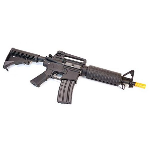 CyberGun Airsoft Rifle 3 CyberGun Colt M4 Sportsline Commando AEG- Black, Includes Battery and Charger, Multi-Color (180894/92584)