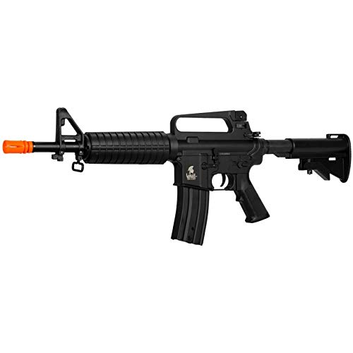 Lancer Tactical  3 Lancer Tactical LT-01C Airsoft M4 Commando AEG Rifle Black