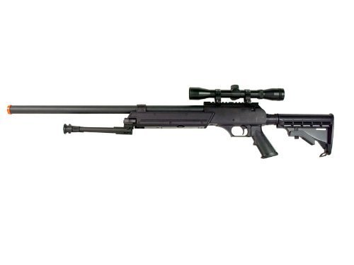 Well  2 Well MB06 SR-2 Tactical Airsoft Sniper Rifle w/ 3-9x40 Scope & Bipod Bolt Action Airsoft Sniper