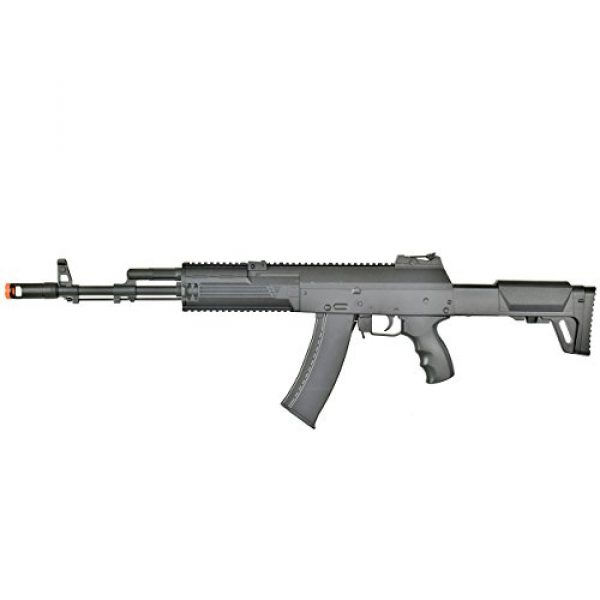 BBTac Airsoft Rifle 5 BBTac AK-47 Airsoft Gun, Electric Airsoft Assault Rifle Fully Automatic AEG with Battery & Charger, Magazine, Shoots 6mm Airsoft Pellets