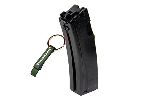 WE  1 WE 26rds Gas Airsoft Gas Magazine For APACHE MP5 MP5K MP5A2 GBB SMG BLK -Mobile Ring Included