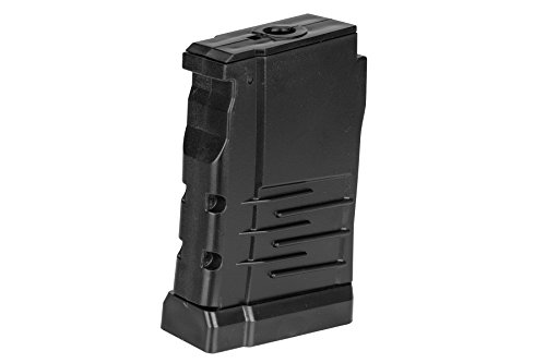 LCT Airsoft  1 LCT Air Soft Airsoft Gameplay BB Airsoft Magazine VSS Vintorez Series AEG 50 Round Dual Column - Black Airsoft Use