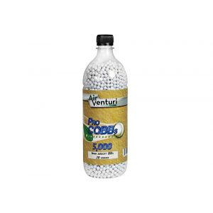 Air Venturi Airsoft BB 1 Air Venturi Pro CQBBs 6mm Biodegradable Airsoft BBS, 0.20g, 5000 RDS, White
