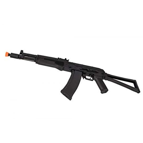 Lancer Tactical Airsoft Rifle 4 Lancer Tactical AK-Series AKS-105 AEG Airsoft Rifle with Skeleton Foldable Stock Black