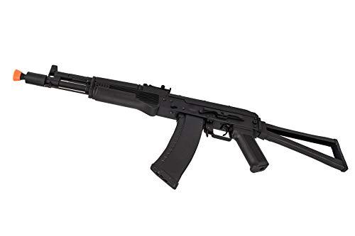 Lancer Tactical  4 Lancer Tactical AK-Series AKS-105 AEG Airsoft Rifle with Skeleton Foldable Stock Black