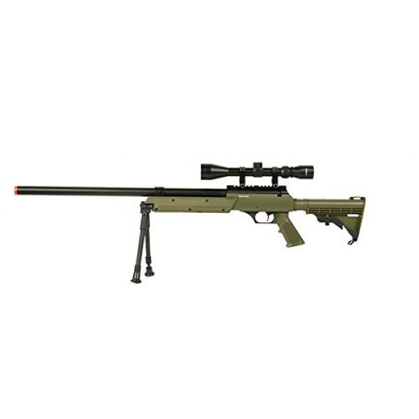 Well Airsoft Rifle 1 Well APS MB06A SR-2 Bolt Action Sniper Rifle Airsoft Gun (OD/Scope & Bipod Package)
