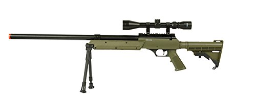Well  1 Well APS MB06A SR-2 Bolt Action Sniper Rifle Airsoft Gun (OD/Scope & Bipod Package)
