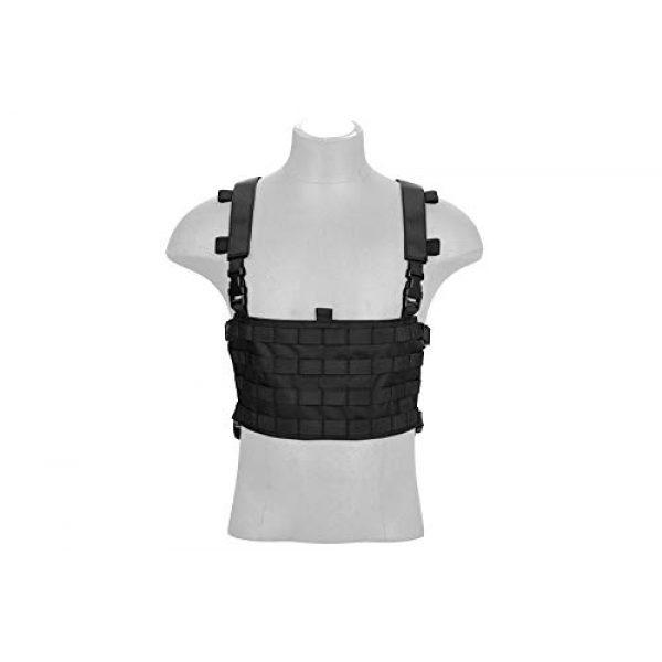 Lancer Tactical Airsoft Tactical Vest 4 Lancer Tactical 1000D Nylon QD Chest Rig and Backpack Combo Black