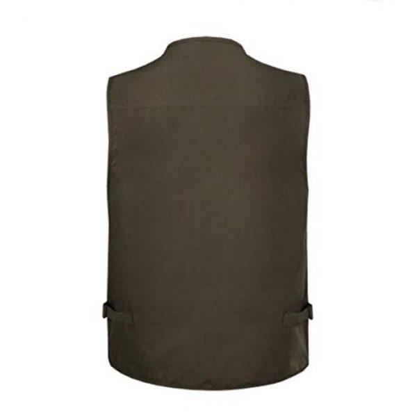 DAFREW Airsoft Tactical Vest 2 DAFREW Men's Vest Spring and Autumn Outdoor Vest Fishing Vest Cotton Custom Multi-Pocket Vest (Color : Deep Khaki, Size : L)