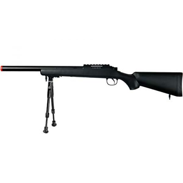 Well Airsoft Rifle 1 Well MB02 Airsoft Sniper Rifle W/Bipod - Black