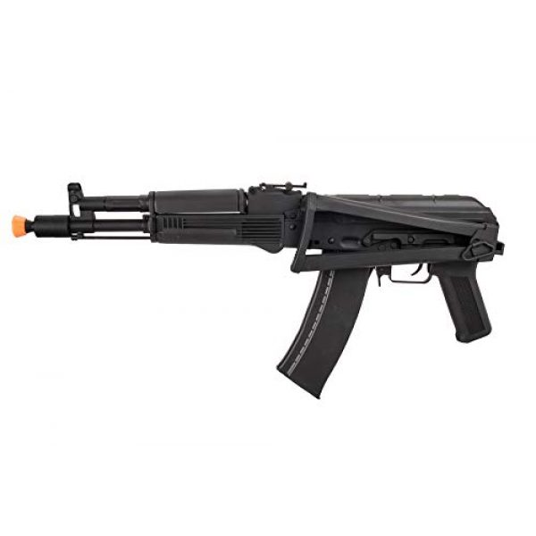 Lancer Tactical Airsoft Rifle 5 Lancer Tactical AK-Series AKS-105 AEG Airsoft Rifle with Skeleton Foldable Stock Black