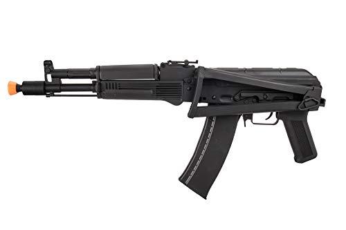 Lancer Tactical  5 Lancer Tactical AK-Series AKS-105 AEG Airsoft Rifle with Skeleton Foldable Stock Black