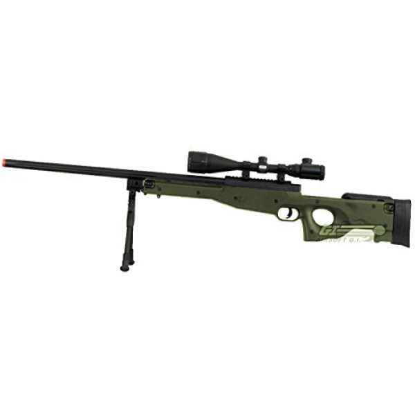 Bravo! Airsoft Rifle 2 Bravo Full Metal MK98 Bolt Action Sniper Rifle (OD/Bipod Package)