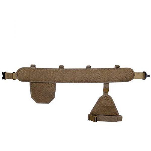DETECH Airsoft Tactical Vest 6 DETECH Molle Padded Modular Belt Sleeve Tactical Inner Belt Drop Leg Platform Panel, Hip Panel Laser Cutting PALS Combo