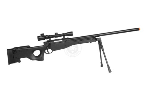 Well  4 de airsoft shadow ops mk96 bolt action sniper rifle w/ bipod and scope(Airsoft Gun)