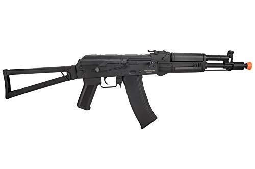 Lancer Tactical  2 Lancer Tactical AK-Series AKS-105 AEG Airsoft Rifle with Skeleton Foldable Stock Black
