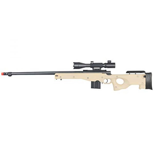 Well Airsoft Rifle 1 Well MB4402 Airsoft Sniper Rifle W/ 4-16X50MM TRI-Rail TED Rifle Scope - Tan
