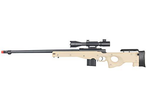 Well  1 Well MB4402 Airsoft Sniper Rifle W/ 4-16X50MM TRI-Rail TED Rifle Scope - Tan