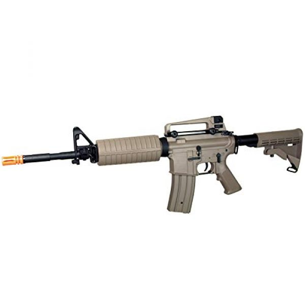 MetalTac Airsoft Rifle 1 MetalTac Electric Airsoft Gun with Metal Gearbox Version 2, Full Auto AEG, Powerful Spring 370 Fps with .20g BBS