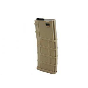 LONEX Airsoft Gun Magazine 1 LONEX Airsoft M4 M16 Scar Plastic TAN Magazine 200 RDS ASG MID Cap Gameplay
