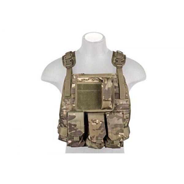 Lancer Tactical Airsoft Tactical Vest 3 Lancer Tactical Ballistic 600D Poly Combat Training Tactical Vest Camo Tropic Adjustable Lightweight