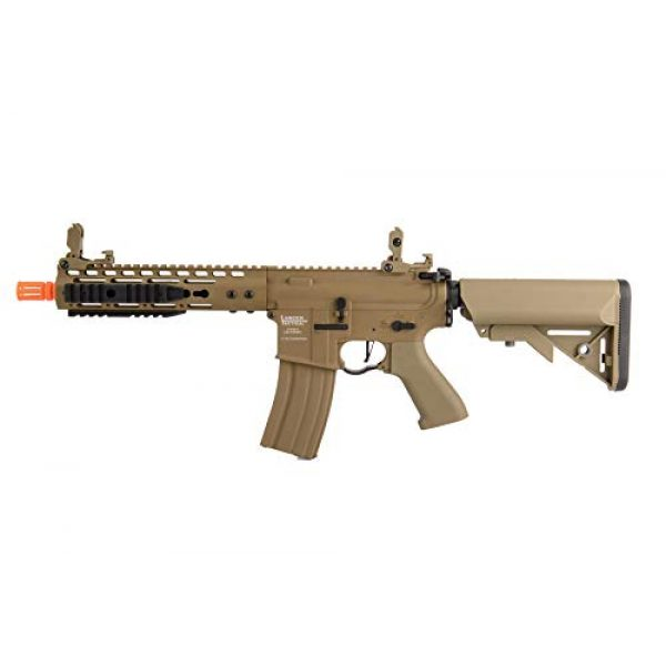 """Lancer Tactical Airsoft Rifle 1 Lancer Tactical Proline 9"""" KeyMod with Picatinny M4 Carbine AEG Airsoft Rifle Tan 395 FPS"""