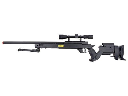 Well  2 Well awn aps2 spring sniper airsoft rifle w/ bi-pod & scope(Airsoft Gun)