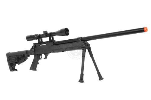 BBTac  2 Wellfire aps sr-2 modular airsoft sniper rifle - scope & bipod - black(Airsoft Gun)