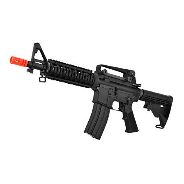 Lancer Tactical Airsoft Rifle 4 Lancer Tactical WE Full Metal M4 CQB RIS Open Bolt Gas Blowback Airsoft Rifle Black 420 FPS